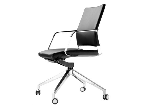 Swivel task chair with casters S 95 PFRW by THONET
