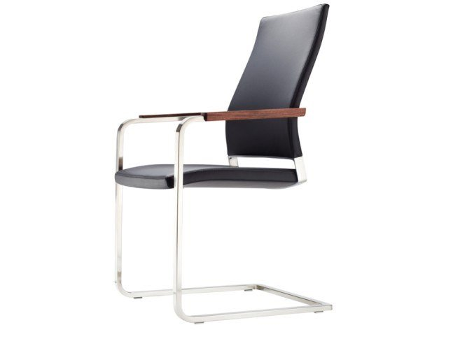 Cantilever chair with armrests S 96 PF by THONET