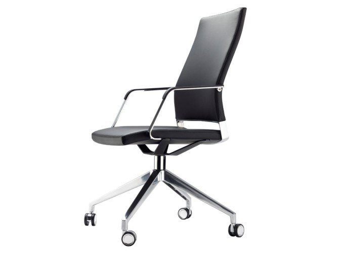 Swivel office chair with castors S 96 PFR by Thonet