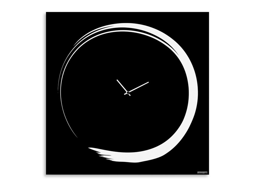 Wall-mounted plate clock S-ENSO | Wall-mounted clock by Designobject.it