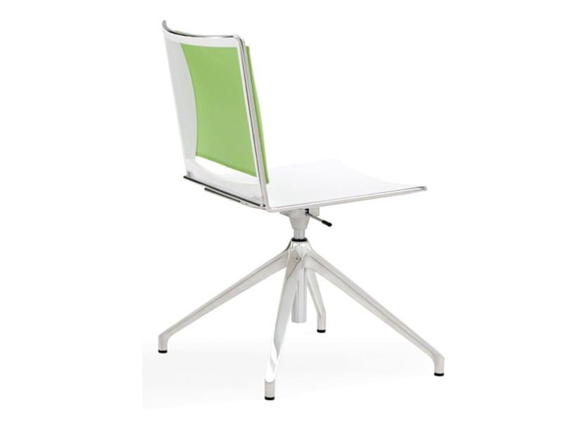 Polypropylene office chair with 4-Spoke base S'MESH PLASTIC | Office chair with 4-Spoke base by Diemmebi