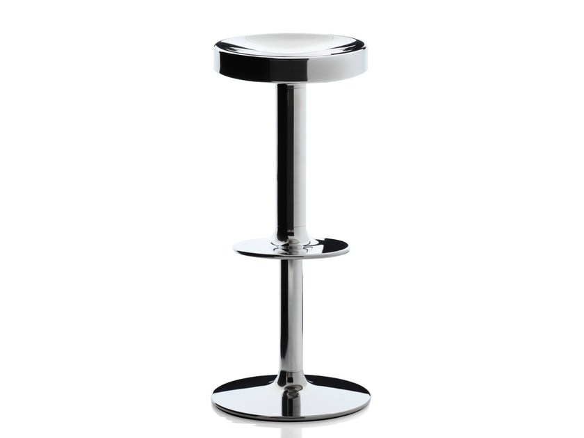 Swivel stool with gas lift S.S.S.S. SWEET STAINLESS STEEL STOOL by Magis