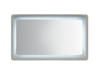 Rectangular wall-mounted mirror with integrated lighting S002010-20 | Mirror by INDA®