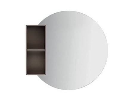 Wall-mounted bathroom mirror with cabinet S00651 | Mirror by INDA®