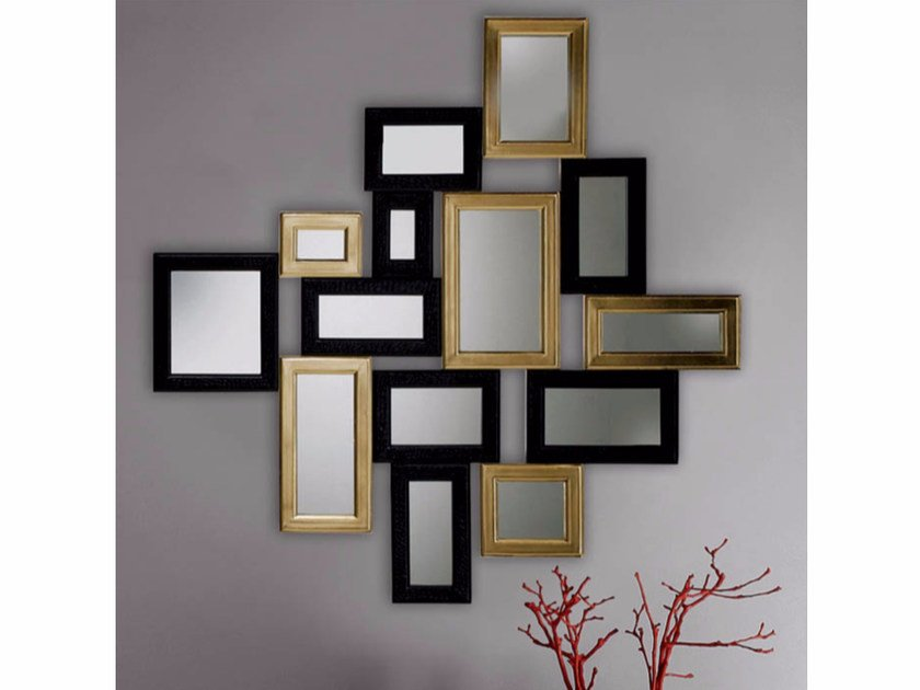 Wall-mounted framed mirror S101 | Mirror by Rozzoni