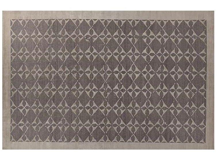 Patterned handmade Bamboo silk rug LOFT S103B by Mohebban