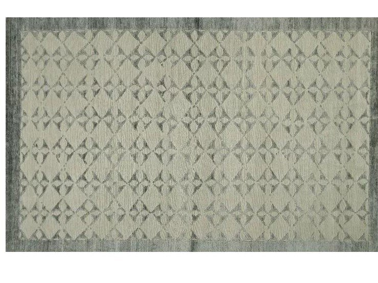 Patterned handmade Bamboo silk rug LOFT S103C by Mohebban