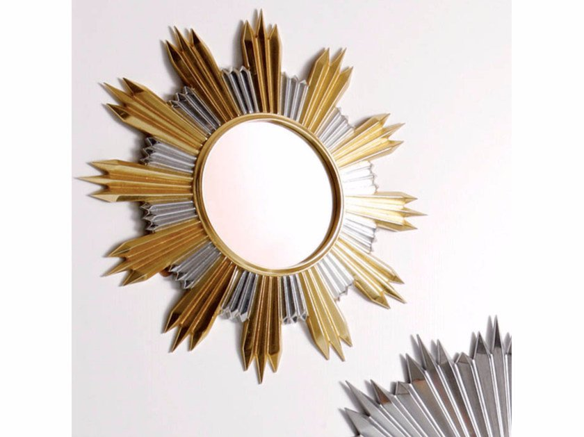 Round wall-mounted framed mirror S107 | Mirror by Rozzoni
