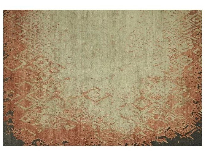 Patterned handmade Bamboo silk rug LOFT S108A by Mohebban