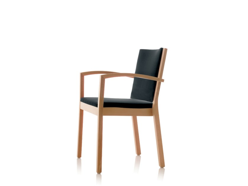 Sedia impilabile in tessuto con braccioli S13 | Sedia con braccioli by Wiesner-Hager