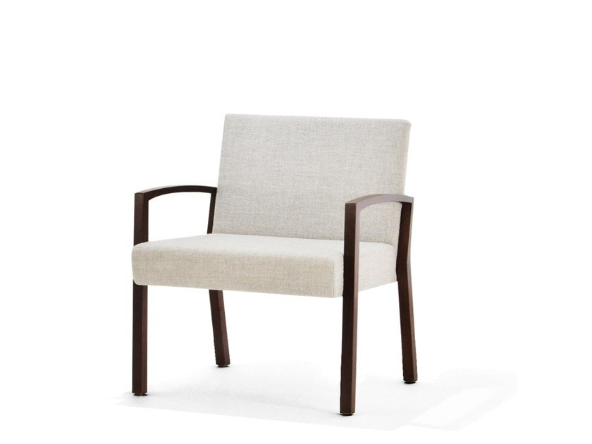Fabric easy chair with armrests S13 | Easy chair with armrests by Wiesner-Hager