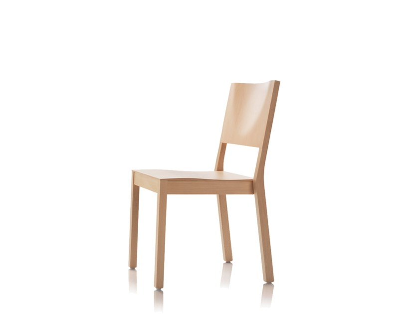 Stackable wooden chair S13 | Stackable chair by Wiesner-Hager