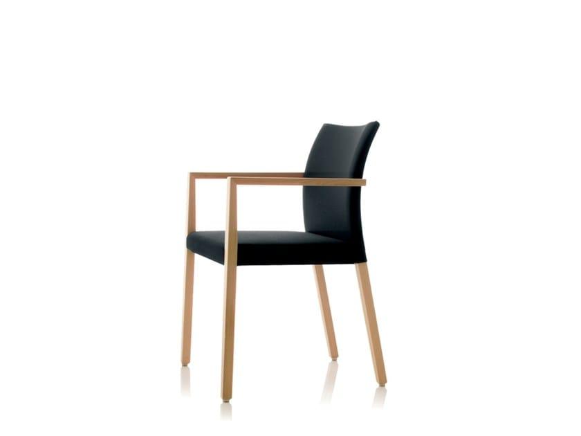 Sedia impilabile in tessuto con braccioli S15 | Sedia con braccioli by Wiesner-Hager