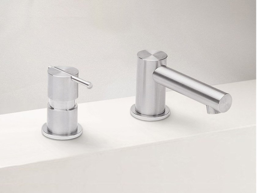 2 hole stainless steel washbasin mixer S22 T4.12   Washbasin mixer by Water Evolution