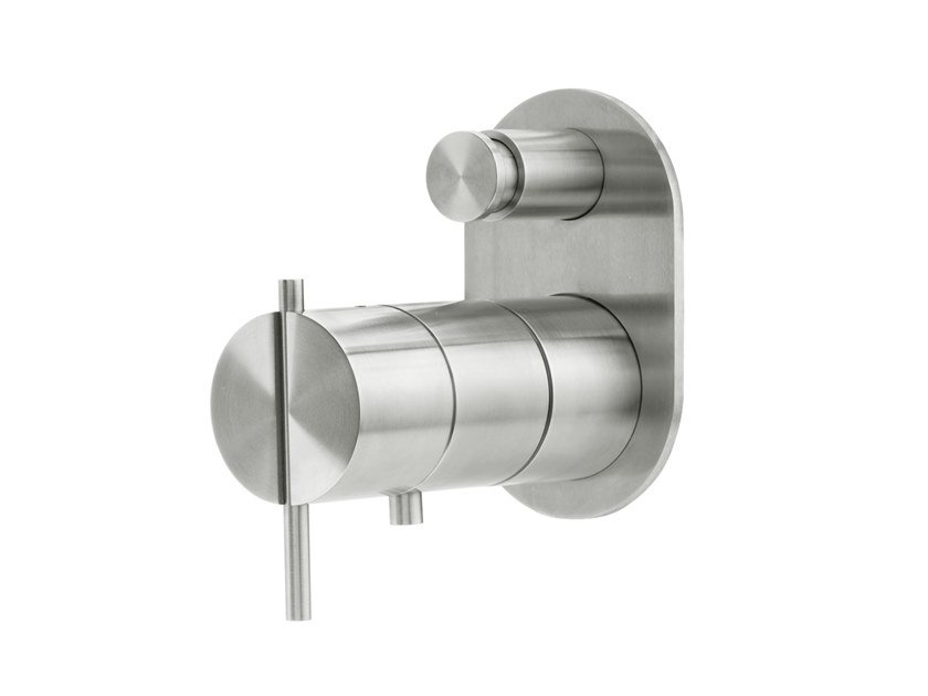 Wall-mounted bathtub / shower mixer S22 T4.32TB by Water Evolution