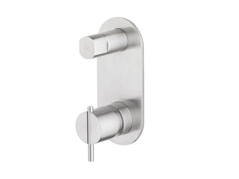 Wall-mounted bathtub/shower mixer S22 T4.36 B by Water Evolution
