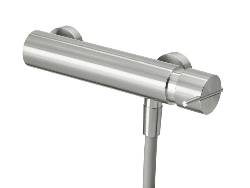 Stainless steel shower mixer with flexible hose S22 T4.40   Shower mixer by Water Evolution