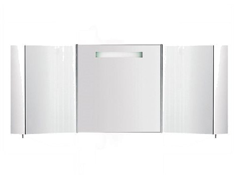 Wall-mounted bathroom mirror with cabinet S401840-S401850 | Mirror by INDA®