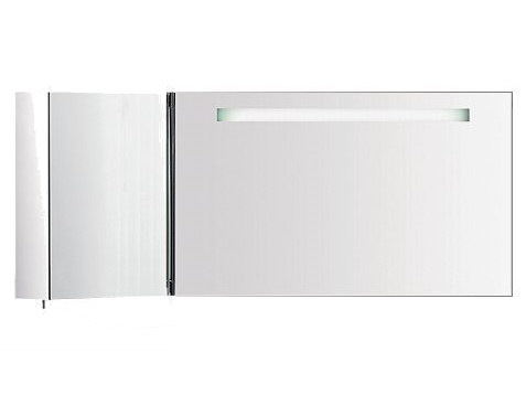 Wall-mounted bathroom mirror with cabinet S40185 | Mirror by INDA®