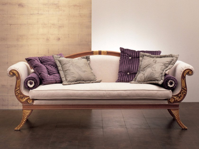 Upholstered fabric sofa S50   Sofa by Rozzoni