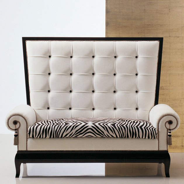 Tufted upholstered fabric sofa S83 | Sofa by Rozzoni