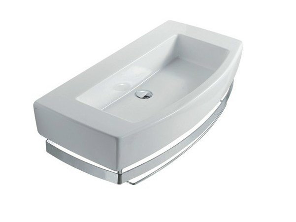 Rectangular ceramic washbasin SA.02 100 | Washbasin by GALASSIA