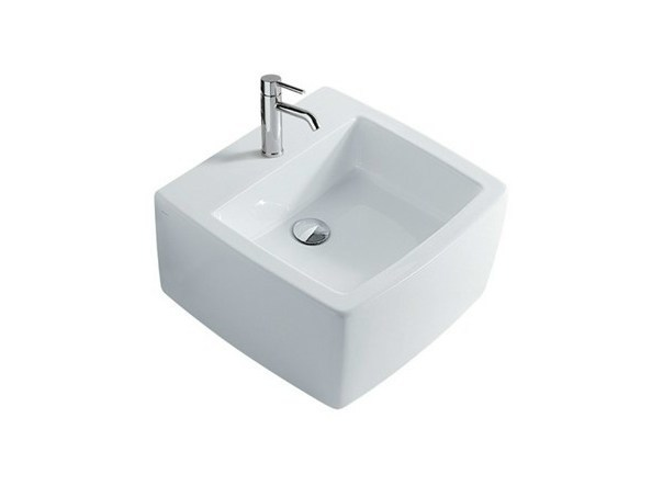 Rectangular wall-mounted ceramic washbasin SA.02 50 | Wall-mounted washbasin by GALASSIA