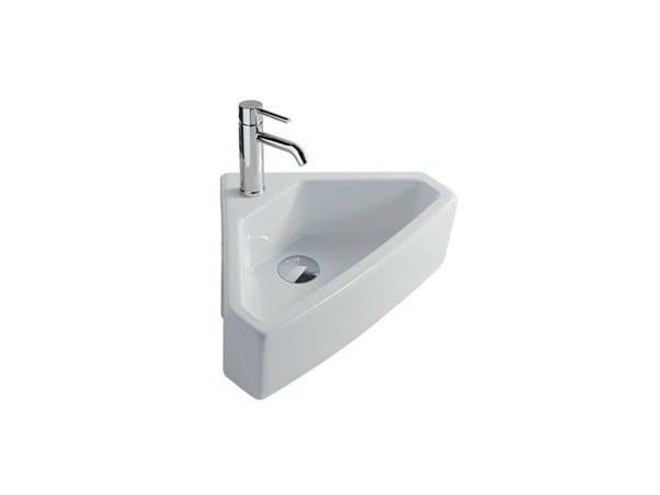 Corner ceramic washbasin SA.02 | Corner washbasin by GALASSIA