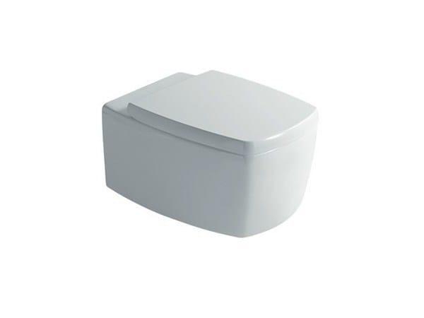 Wall-hung ceramic toilet SA.02 | Wall-hung toilet by GALASSIA