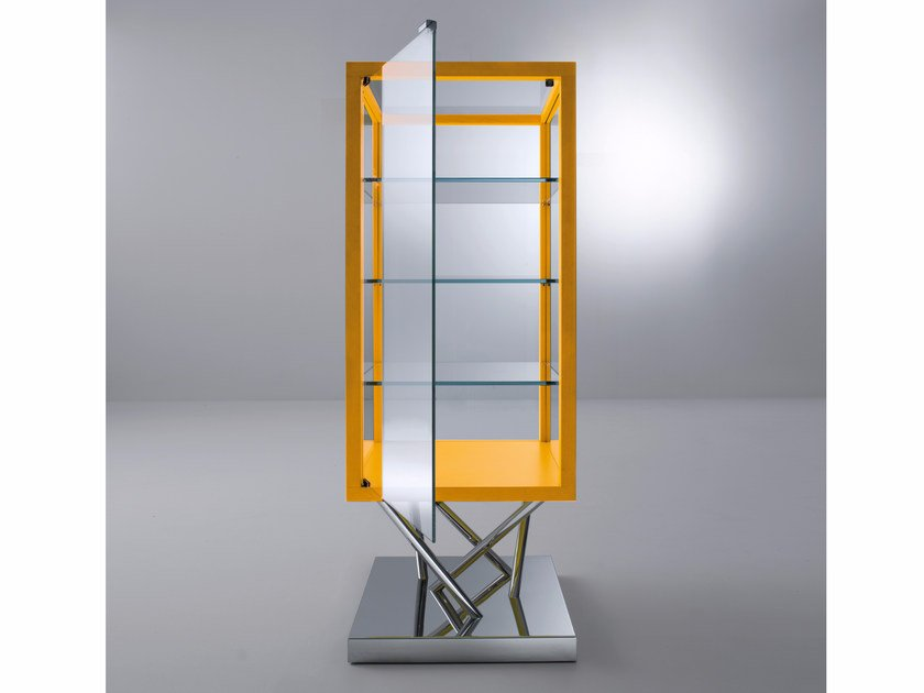 Glass and steel display cabinet SA03 by Laurameroni