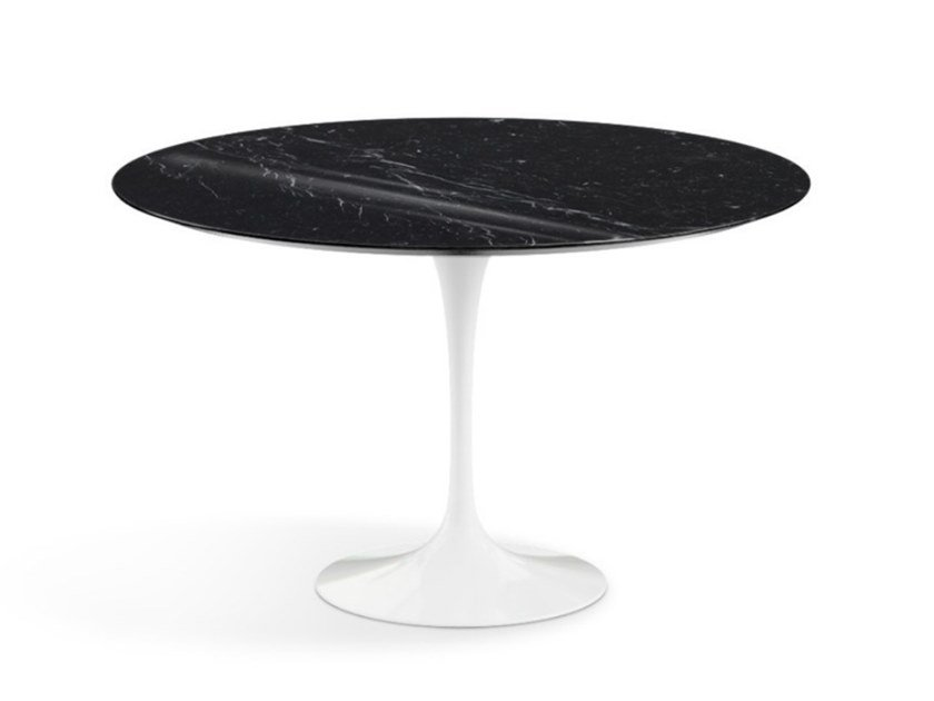 Round table with marble top and aluminium base TULIP | Round table by KNOLL