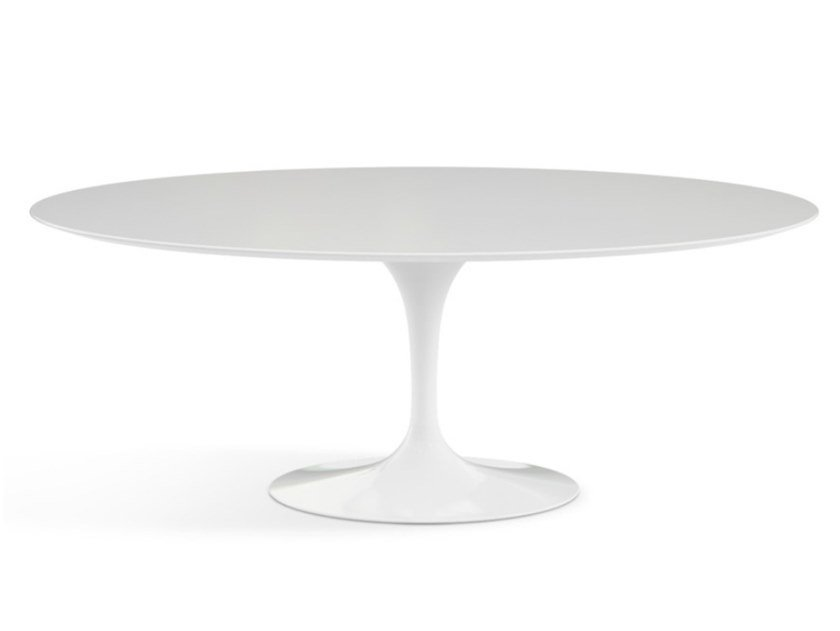 Oval table with laminate top and aluminium base TULIP   Oval table by KNOLL