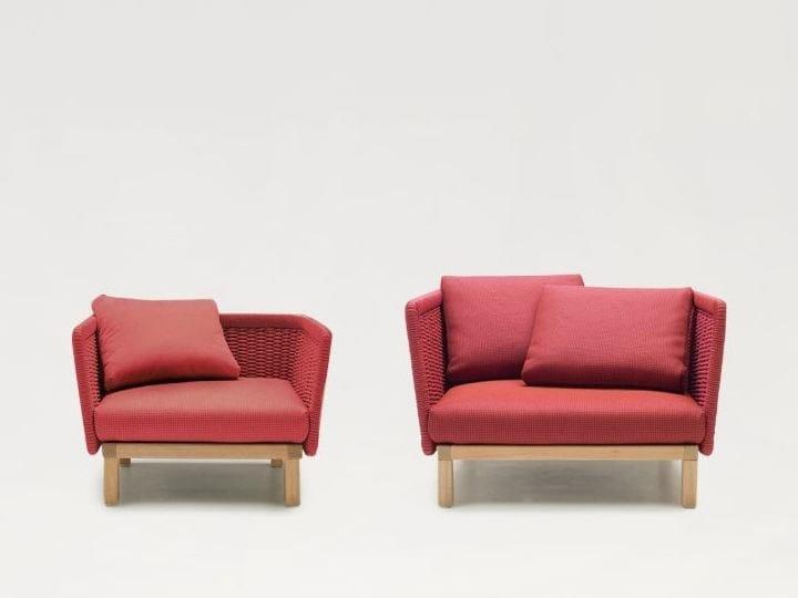 Armchair with armrests SABI | Armchair by paola lenti