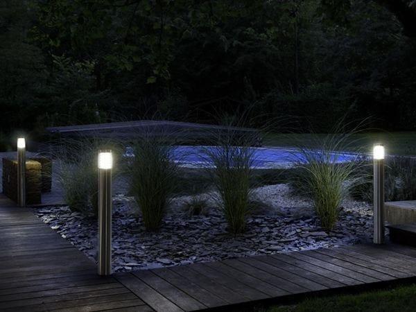 Metal bollard light SABRI FL by BEL-LIGHTING