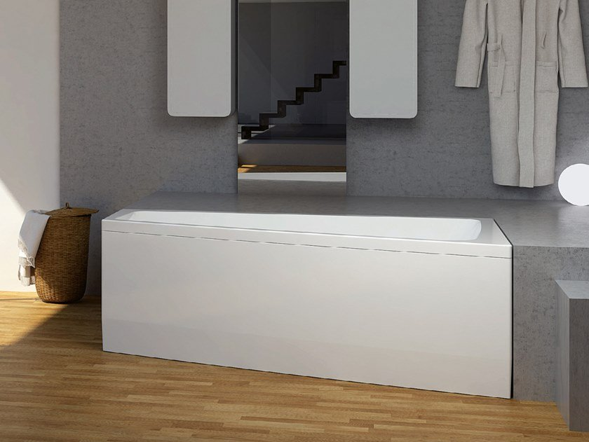 Asymmetric whirlpool acrylic bathtub SABRINA by Relax Design