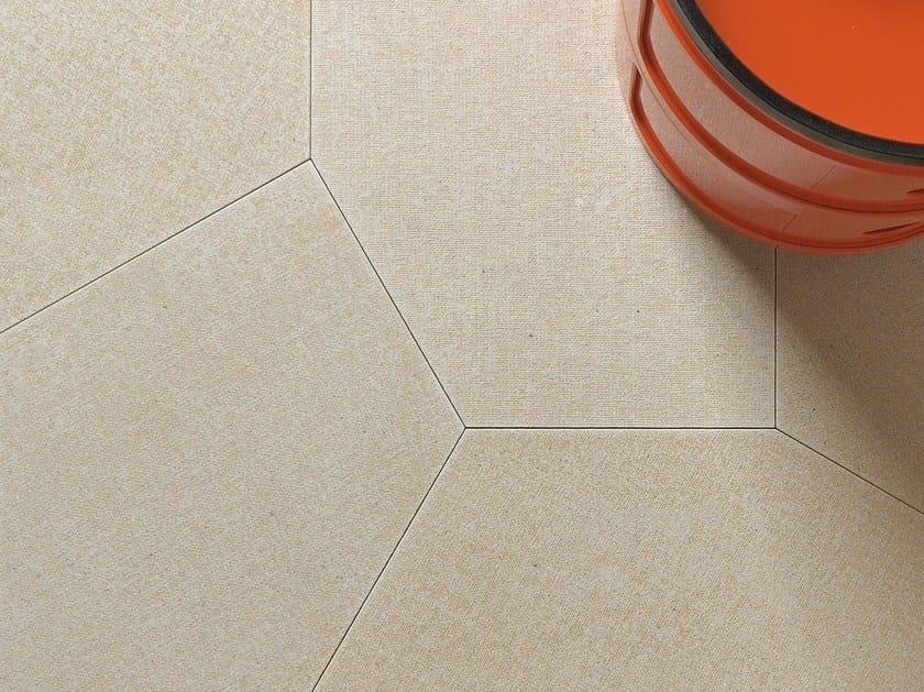 Natural stone wall/floor tiles SACCO POLIGONO6 GREIGE by TWS