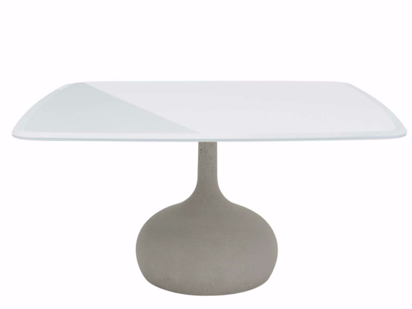 Square tempered glass table SAEN 1400 - SN1 | Tempered glass table by Alias