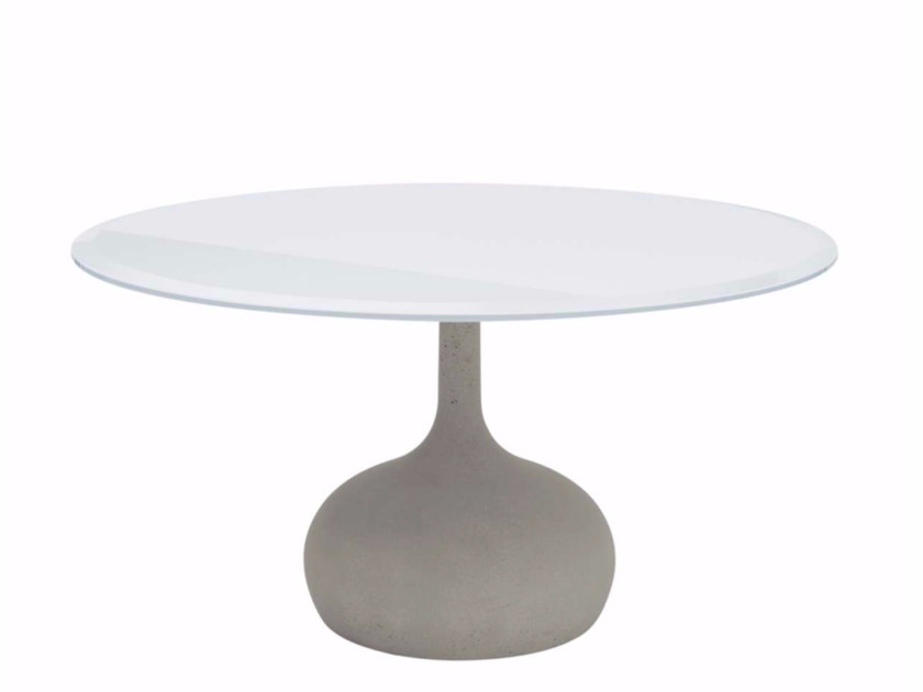 Round tempered glass table SAEN 1400 - SN2 | Tempered glass table by Alias