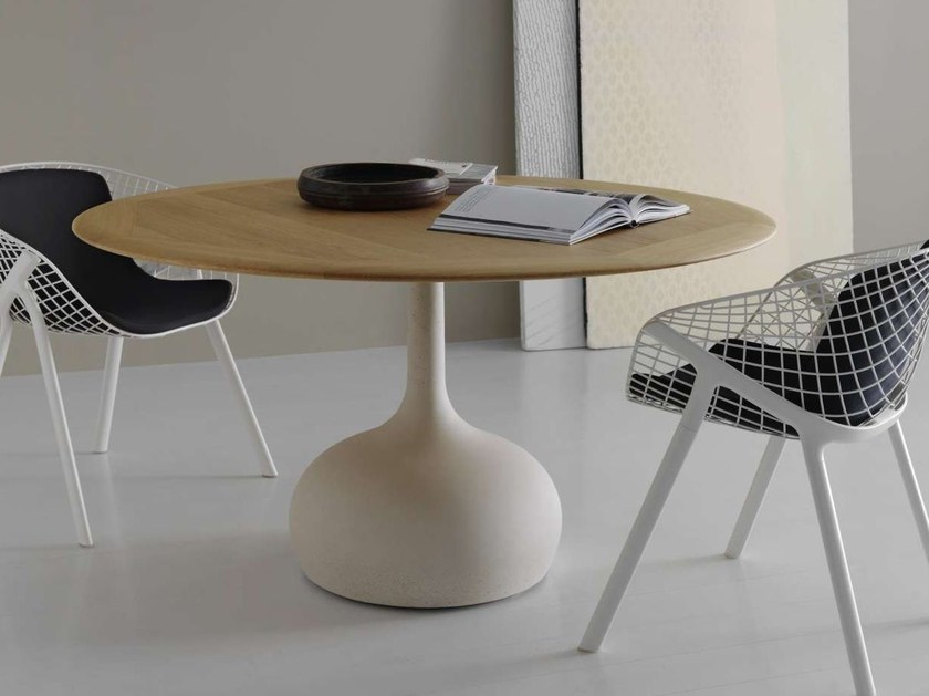 Round wooden table SAEN 1400 - SN2 | Wooden table by Alias