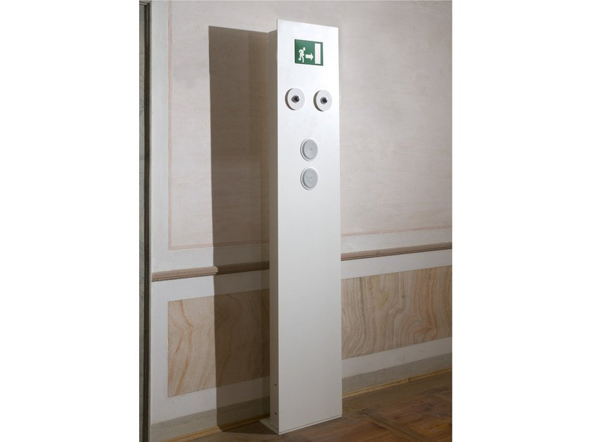 Aluminium emergency light for signage SAFE SYSTEM by GLIP by S.I.L.E