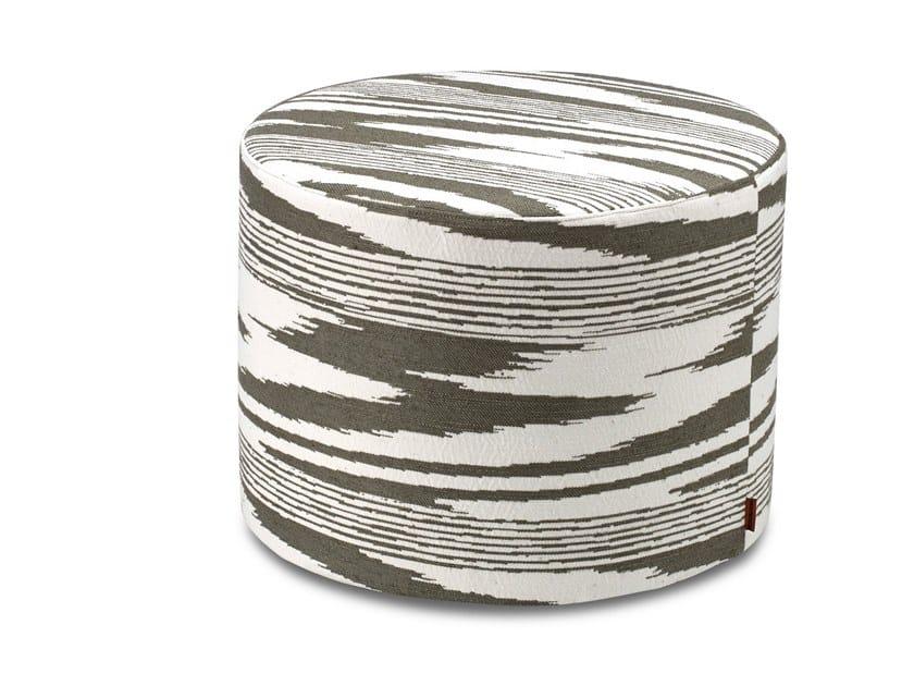 Pouf cilindro in tessuto jacquard tinto in filo SAFI | Pouf by MissoniHome