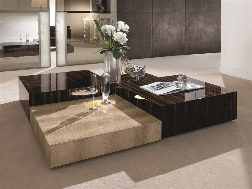Longhi Safir Square Coffee Table For, Square Living Room Table