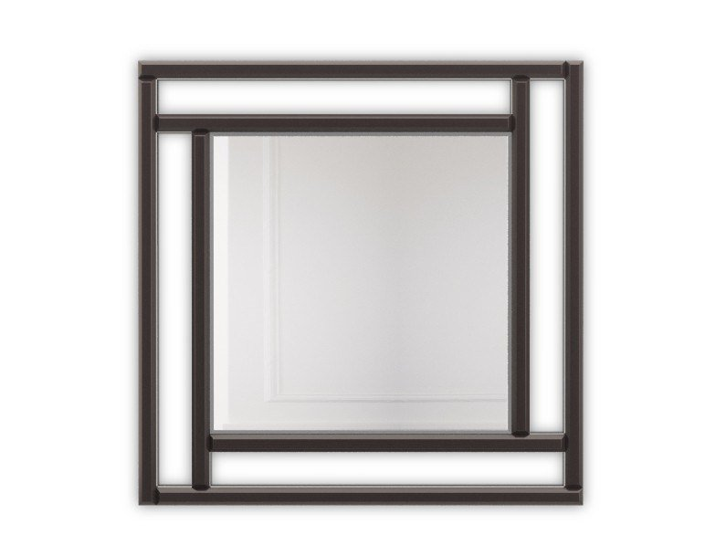 Square framed wall-mounted mirror SAINT LOUIS   Square mirror by PRADDY