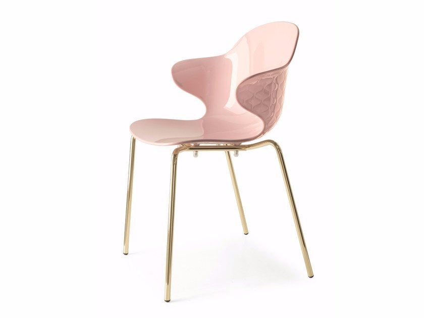Stackable polycarbonate chair with armrests SAINT TROPEZ | Chair by Calligaris