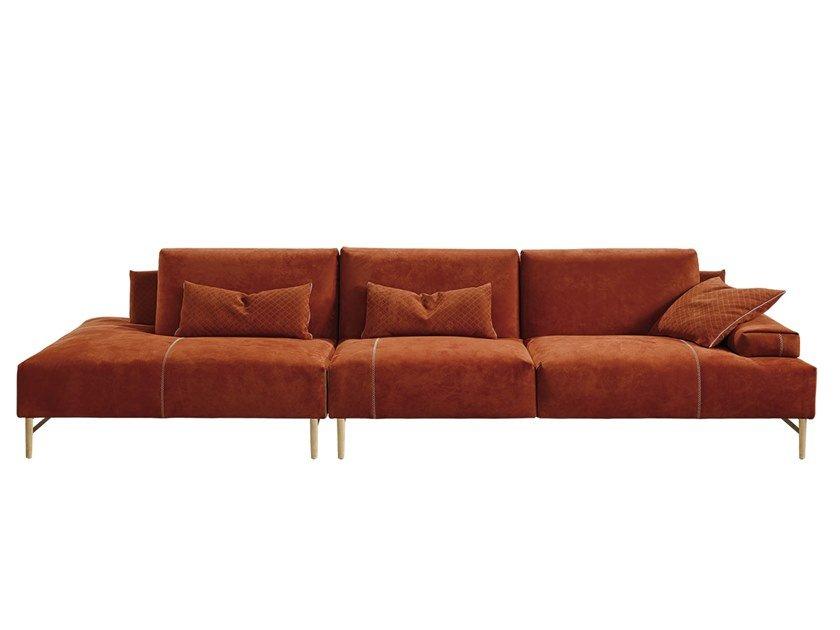 Sectional leather sofa SAKS by Gamma Arredamenti