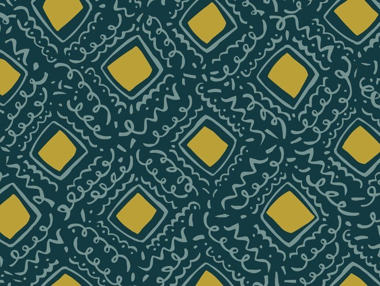 Printed Outdoor fabric with graphic pattern SALER by Equipo DRT