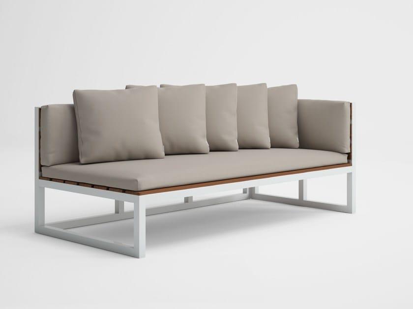 Modular garden sofa SALER SOFT TEAK 1 by GANDIA BLASCO