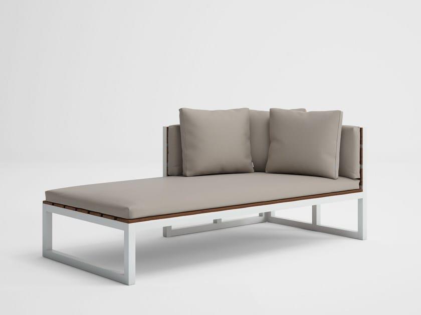 Modular garden sofa SALER SOFT TEAK 2 by GANDIA BLASCO