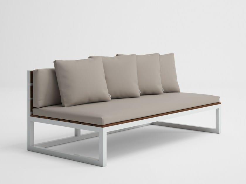 Modular garden sofa SALER SOFT TEAK 4 by GANDIA BLASCO