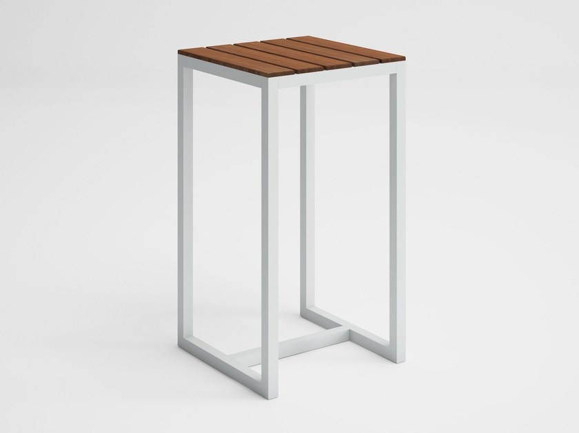 Square teak high table SALER SOFT TEAK | High table by GANDIA BLASCO